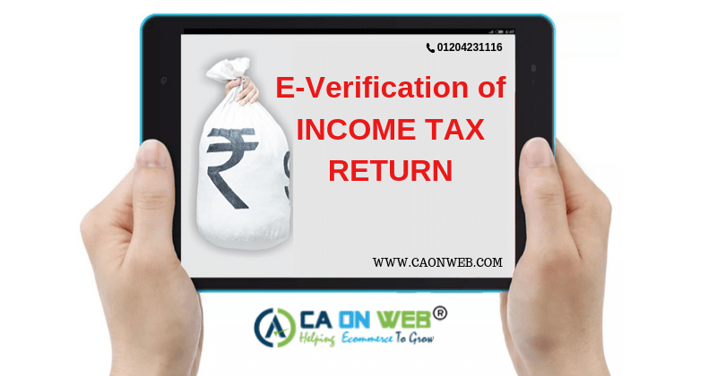 E-VERIFY YOUR INCOME TAX RETURN